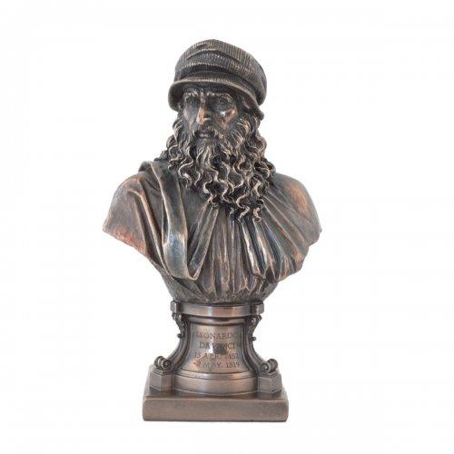 """Bust """"Leonardo da Vinci"""", statueta rasina si bronz"""