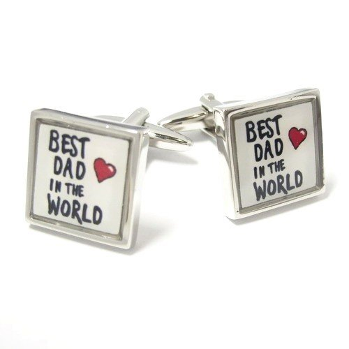 Butoni camasa model 'Best dad in the world'