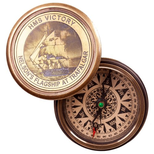 Busola HMS Victory, bronz, in cutie cadou