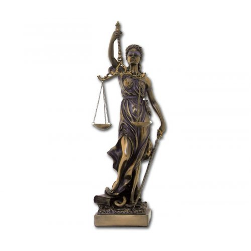 Statueta zeita dreptatii Themis