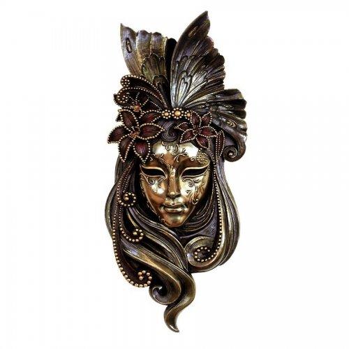 Masca venetiana, rasina si bronz - Lily