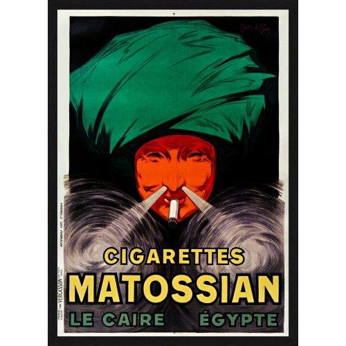 "Tablou ""Cigarettes Matossian Le Caire, Egypte"""