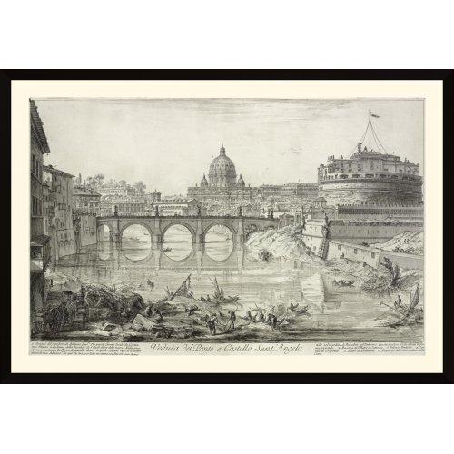 """Tablou """"Veduta del Ponte e Castello Sant' Angelo"""""""