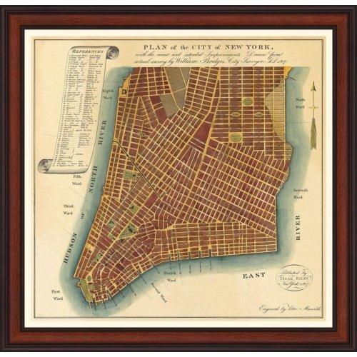 """Tablou """"Planul orasului New York"""""""