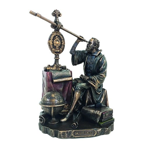 Statueta rasina si bronz, Galileo Galilei