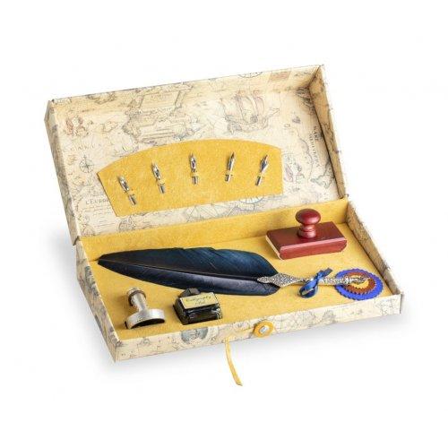 Set de scris retro cu pana si accesorii