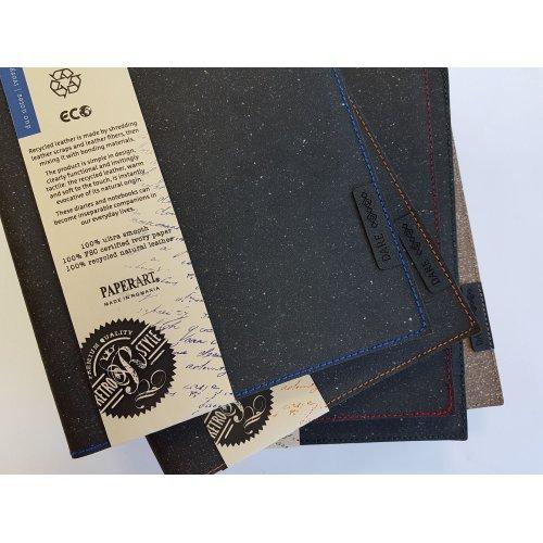 Agenda datata cu coperta din piele reciclata