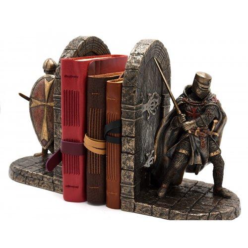 Suport pentru carti, rasina si bronz, cavaleri medievali