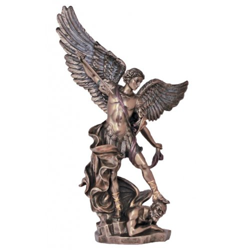 Statueta rasina si bronz, Arhanghelul Mihail