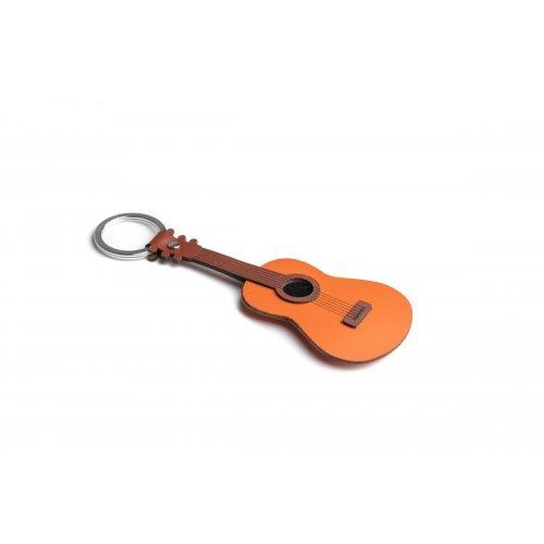 Port chei din piele, model chitara acustica